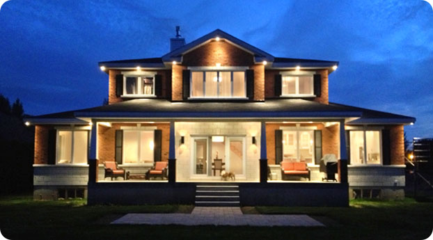 Photo of LED lit house