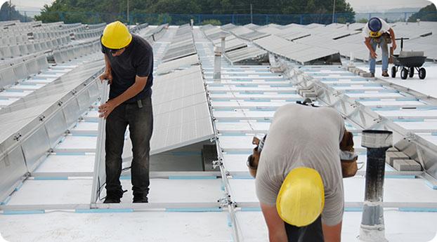 Photo of solar install