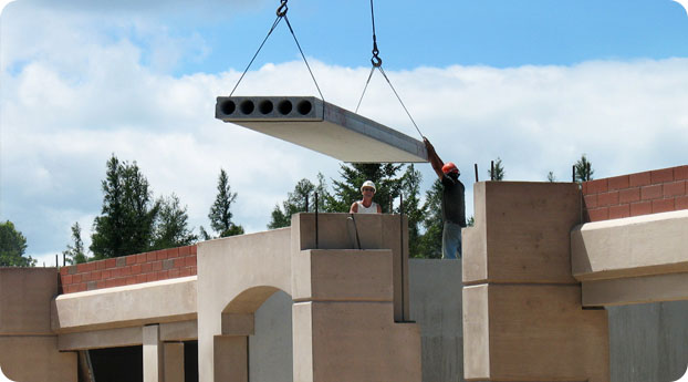 Photo of precast walls